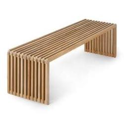 Hkliving :: ławka z listwami z drewna tekowego naturalna 160x43x45 cm
