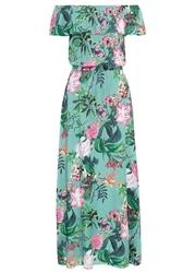 Długa sukienka z nadrukiem bonprix morski pastelowy w kwiaty
