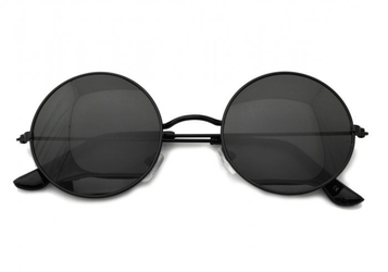 Lenonki czarne przeciwsłoneczne hippie retro 4322