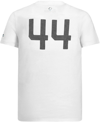 Koszulka mercedes amg hamilton 44 biała - biały