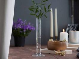 Świecznik ozdobny dekoracyjny szklany  wazon szklany edwanex tina 25 cm