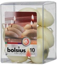 Bolsius, kremowa, świeca pływająca, 10 sztuk