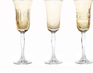 Kieliszki do szampana Veranda 3 szt. złote