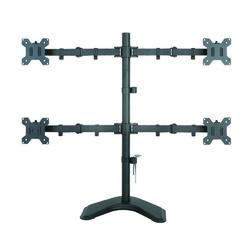 Techly Ramię biurkowe na cztery monitory LEDLCD 13-27cali VESA 4x10kg regulowane