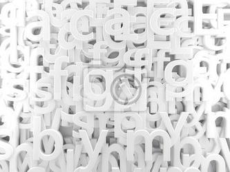 Fototapeta fondo abstracto blanco con letras y abecedario