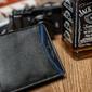 Portfel męski skórzany always wild n992-shp czarny - czarny z niebieskim