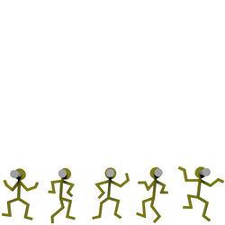 Wieszak ścienny Littleman CalleaDesign oliwkowo-zielony 13-002-54