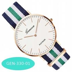 Zegarek damski męski geneva parciany gen-330-01
