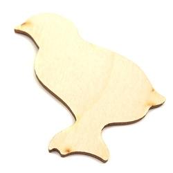 Drewniana dekoracja wielkanocna - pisklę - pisk