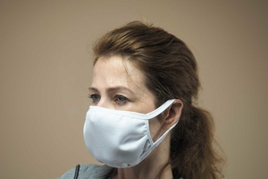 Maseczka wielorazowa higieniczna z wykończeniem antybakteryjnym polygiene, biała, 2 sztuki - dr.bacty