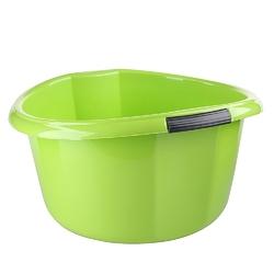 Miska na pranie  łazienkowa z uchwytami plastikowa okrągła solidna bentom seledynowa 25 l