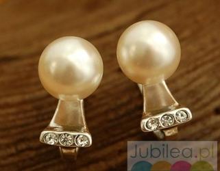 Abertis - srebrne kolczyki perła i kryształki