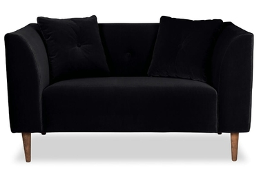 Sofa ginster welurowa welur bawełna 100 czarny