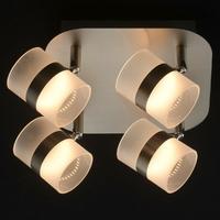 Metalowa lampa przysufitowa, cztery lampiony led demarkt techno 704010804