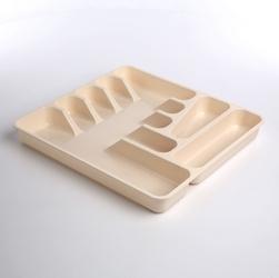 Pojemnik  wkład na sztućce do szuflady keeeper pablo kremowy