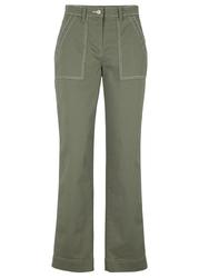 Spodnie z kontrastowymi szwami bonprix oliwkowy