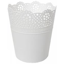 Plastikowa osłonka na doniczkę 13 cm - biała