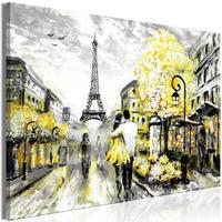 Obraz - kolorowe rendez-vous 1-częściowy szeroki żółty