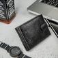 Portfel męski skórzany ronaldo n992l nad czarny - czarny