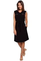 Czarna letnia sukienka o lekko sportowym fasonie