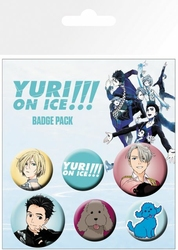 Yuri On Ice Mix - przypinki