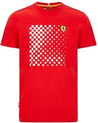 Koszulka scuderia ferrari f1 checkered graphic czerwona - czerwony
