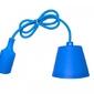 Sufitowa lampka wisząca silikonowa, zwis, loft - niebieski