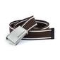 Parciany brązowo biały pasek do spodni brodrene p07 silver
