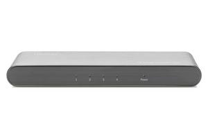 Digitus rozdzielaczsplitter hdmi 4-portowy, 4k 60hz uhd 3d hdr, hdcp 2.2, audio