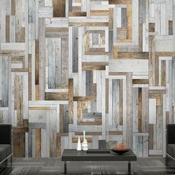 Fototapeta - drewniany labirynt