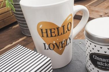 Kubek 420 ml z zestawem gorący napój - coffee