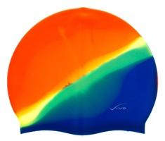 Czepek silikonowy vivo b-1314 multikolor pomarańczowo-niebieski