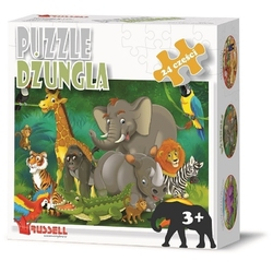 Dżungla puzzle tekturowe 24 el.