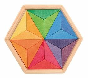 Drewniane Puzzle do układania, Gwiazda 3+, Grimms