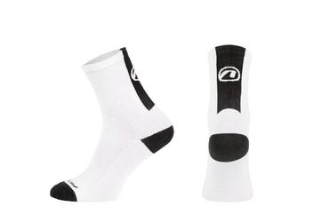 Skarpetki kolarskie stripe biało-czarne