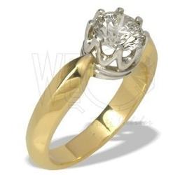 Pierścionek z żółtego i białego złota z cyrkonią ap-90zb-c