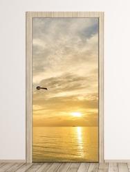 Fototapeta na drzwi zachód słońca nad morzem fp 6198