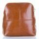Koniakowy skórzany plecak damski vintage