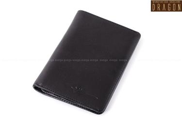 Etui skórzane portfel dragon na dokumenty czarny