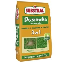 Dosiewka do trawnika 3w1 – mulcz + nasiona + nawóz – 10 l substral