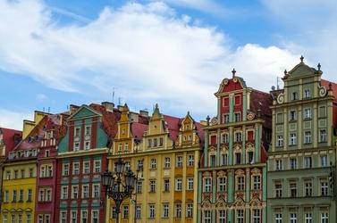 Fototapeta na ścianę wrocławskie kamienice fp 5987