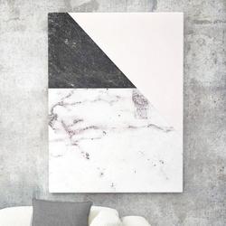 Modny obraz na płótnie - marble collage , wymiary - 100cm x 150cm
