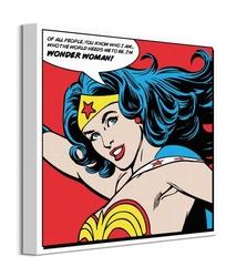Wonder woman cytat - obraz na płótnie