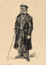 Orphan man, vincent van gogh - plakat wymiar do wyboru: 30x40 cm