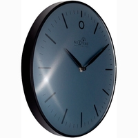 Zegar ścienny sterowany radiowo, czarny glamour nextime 30 cm 3256 zwrc