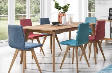 Tapicerowane krzesło na drewnianych nogach stilo