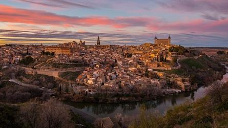 Panorama miasta - plakat premium wymiar do wyboru: 29,7x21 cm