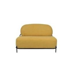 Sofa tapicerowana olly 2-osobowa żółta
