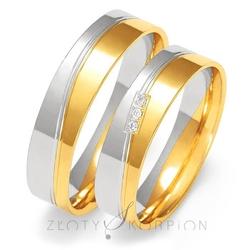 Obrączki ślubne złoty skorpion – wzór au-oe223