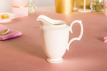 Mlecznik  dzbanek do mleka porcelana mariapaula ecru złota linia